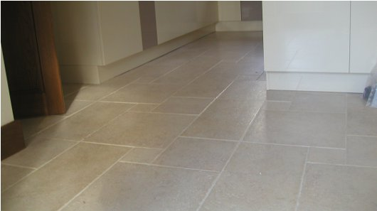 Example Floor Tiling Project Porcelain Tiles On This Kitchen Set